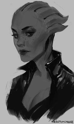 Mass Effect,фэндомы,ME art,Liara