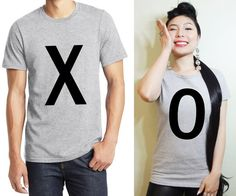 XO cute couple shirts. Matching couple tshirts. His and Her shirts. Matching couple tee. Gift for Couple. Anniversary shirts. Couple shirts