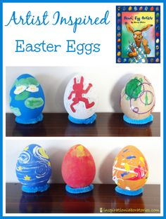 Artist Inspired Easter Eggs to Go Along with Henri, Egg Artiste by Marcus Pfister - part of the Virtual Book Club for Kids