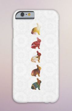Geometric Bunny Rabbits Case for iPhone 6 6 iPhone 5