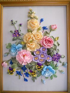 Wonderful Ribbon Embroidery Flowers by Hand Ideas. Enchanting Ribbon Embroidery Flowers by Hand Ideas. Ribon Embroidery, Embroidery Stitches, Embroidery Designs, Embroidery Tattoo, Eyebrow Embroidery, Ribbon Art, Ribbon Crafts, Silk Flowers, Fabric Flowers