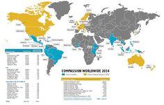 Compassion International - Where We Work Worldwide Map (2014)