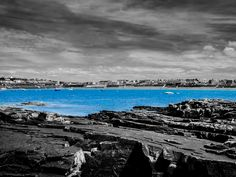 Kilkee Beach by Felikss Veilands on County Clare, Beach Photography, Color Splash, Ireland, Waves, Outdoor, Outdoors, Paint Splats, Irish