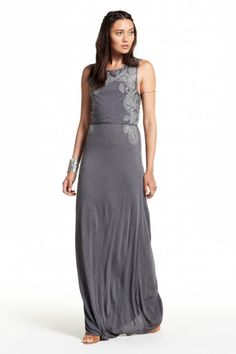 Volanta Lace Embroidered Maxi Dress