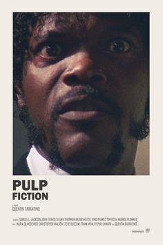 Pulp Fiction - Samuel L Jackson - Tallenge Quentin Tarantino Hollywood Movie Pos. - Pulp Fiction – Samuel L Jackson – Tallenge Quentin Tarantino Hollywood Movie Poster Collection - Iconic Movie Posters, Minimal Movie Posters, Movie Poster Art, Iconic Movies, Poster Wall, Reservoir Dogs, Pulp Fiction Poster, Pulp Fiction Tattoo, Pulp Fiction Quotes