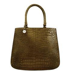 olive crocodile purse