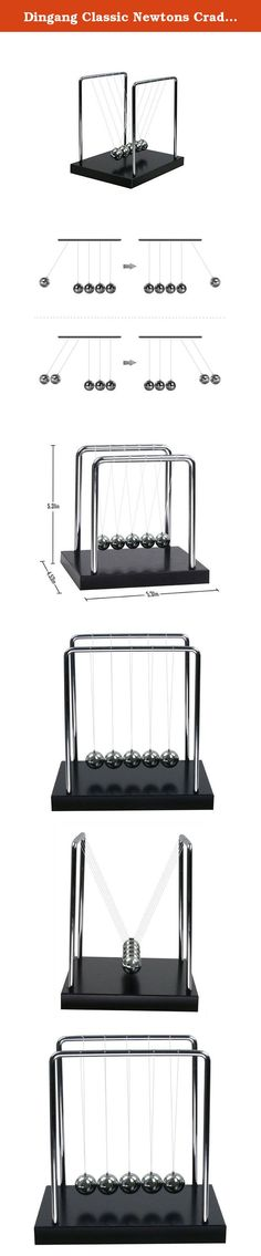 Dingang Classic Newtons Cradle Balance Balls Science Psychology Puzzle Desk Toy Medium. Material: Balance Balls Desk Toy * 1, Stainless steel frame and balls, Nylon thread Principle: Not only demonstrates a pendulum, but also shows the Laws of Conservation of Momentum and Energy. Sit back and watch the soothing motion of the steel balls swinging back and forth, listen to the gentle clicking as each ball taps each other - no matter how stressed out you are, Kinetic Balls will have you…