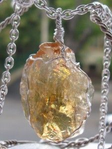 GIVEAWAY!!! Honey calcite wire wrapped in sterling silver