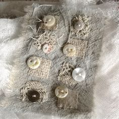 And another #vintagebuttons #lace #scraps #cobbling #thisandthat #dontthrowanythingaway @karenruane