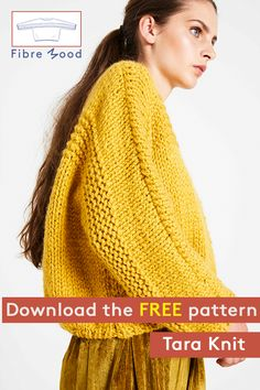 It's not hard to get started knitting your own jumper with the Tara pattern and the knitting instructions that come with it. Knit Cardigan Pattern, Sweater Knitting Patterns, Easy Knitting, Pull Crochet, Crochet Shirt, Knitting Patterns Free, Knit Patterns, How To Purl Knit, Crochet Designs