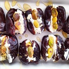 The Bacon Eating Jewish Vegetarian: Stuffed Dates with Pistachios