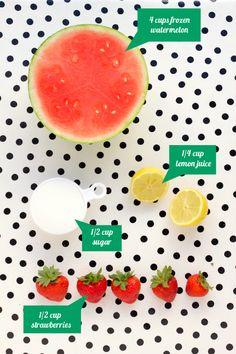 frozen watermelon slush