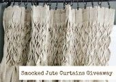Pair of Smocked Jute Curtains Giveaway
