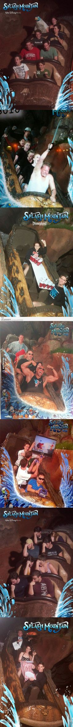 My favourite ride photos from Splash Mountain