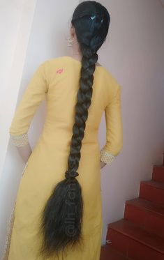 Saree Hairstyles, Indian Hairstyles, Hairstyles Haircuts, Braided Hairstyles, Braids For Long Hair, Long Hair Cuts, Braid Hair, Beautiful Long Hair, Beautiful Girl Indian