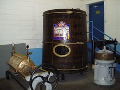 A few Stevens Point Brewery history items on display.