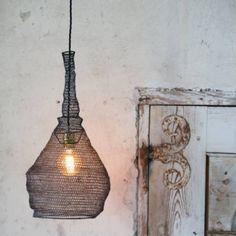 stål järn virkad stickad nät taklampa