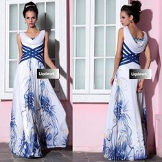 White Navy Floral Corset Military Ball Gown Pageant Evening Dress Shop SKU-122666