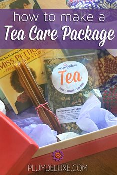 The best tea care package is one you make yourself, and we have themes and goody ideas to get you started. Mad Tea Parties, Tea Party, Tea Gift Baskets, Mint Herb, Watermelon Mint, Tea Gifts, Best Tea, Christmas Gifts For Kids, Loose Leaf Tea
