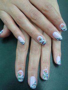 Rosas Nails, Beauty, Roses, Finger Nails, Ongles, Beauty Illustration, Nail, Nail Manicure