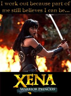 For fans of the hit television show Xena: Warrior Princess, news of a revival is exciting news. Recently, Lucy Lawless, who played the iconic warrior princess, was at San Diego Comic-Con . Xena Warrior Princess, Warrior Queen, Gym Humor, Workout Humor, Xena And Gabrielle, Lucy Lawless, World Leaders, I Work Out, Tv