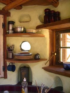 Cob kitchen                                                                                                                                                     More