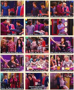 best iCarly show ever!---Not their best acting job ever though lol but I still love themHahaha best iCarly show ever!---Not their best acting job ever though lol but I still love them One Direction Memes, I Love One Direction, Style Zayn Malik, Icarly And Victorious, Zack E Cody, Nickelodeon Shows, Liam James, 1d And 5sos, One Direction Pictures
