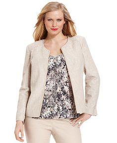 Calvin Klein Jacket, Zip-Front Blazer - Macys