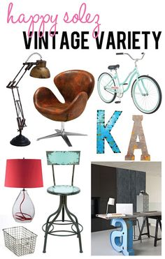 Vintage Industrial Home Goods with a Pop of Color!