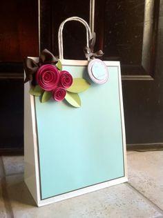 roses roses roses gift bag made using the Art Philosophy cartridge. Very elegant