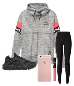 """Early Classes"" by khaelynn ❤ liked on Polyvore featuring Victoria's Secret, lululemon, NARS Cosmetics and NIKE"