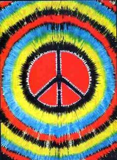 "Peace Tie Dye Tapestry - $24.99  Peace & Tie Dye go hand in hand. This wall hanging tapestry is HUGE! It measures approx. 60"" x 90""  and is perfect for any room or dorm and could cover almost a whole wall."