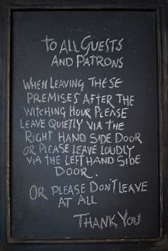 Chalkboard in the Hog's Head Inn at the Wizarding World of Harry Potter (by Marie's Shots)