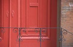 Church door; wrought iron; Center City; Philadelphia, Pennsylvania, USA.  October 2015.