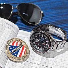 Seiko Prospex X Patriots Jet Team Radio Sync Solar Special Edition Chronograph SSG007