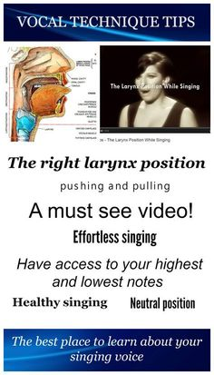 The right larynx position in your throat is crucial if you want to sing in a healthy way.