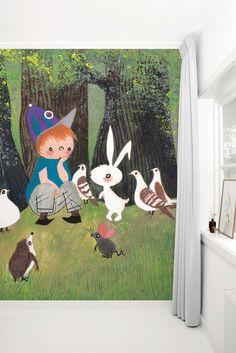 Fotobehang van KEK Amsterdam - Wallpaper Story 050 'Get-Together' door Fiep Westendorp