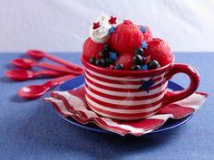 Red White And Blue Watermelon Sundaes #VikingUSA