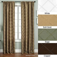 @Overstock - Update your home decor with a luxurious window panel  Window treatment designed with braided diamond trim on taffeta   Curtain features a rod pocket for easy hanging from a decorative rodhttp://www.overstock.com/Home-Garden/Ashford-Rod-Pocket-108-inch-Curtain-Panel/3319864/product.html?CID=214117 $20.99