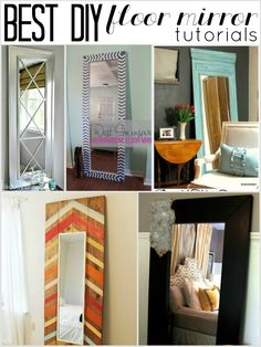 Best DIY full length floor mirror tutorials:  Child at Heart