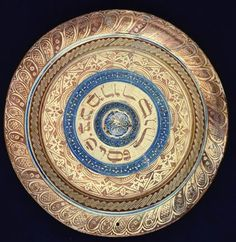 Passover plate, Spain, ca. 1480  Earthenware