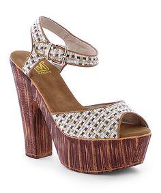 Nude Cami Platform Sandal #zulilyfinds