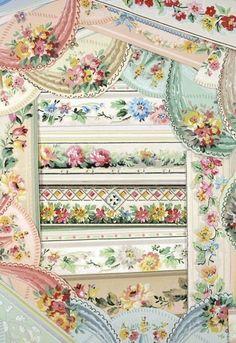 Vintage wallpaper border || Hannah's Treasures Blog