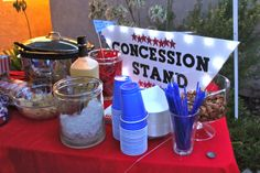 To show you love...: Sandlot Theme Birthday//concession stand