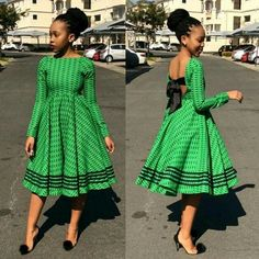 sotho shweshwe dresses for African women - fashion African Print Dresses, African Fashion Dresses, African Attire, African Wear, African Women, African Dress, African Prints, African Style, Ghanaian Fashion