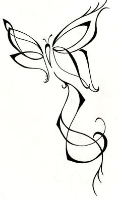 Feminine Butterfly Original Tattoo Design, by Silver Wings Tattoos at Etsy.com