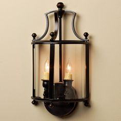 Heritage Lantern Sconce This exclusive pocket-style sconce will grace your walls with traditional elegance. With decorative details and 2 lights shining behind curved glass panels. Fireplace Lighting, Porch Lighting, Wall Sconce Lighting, Candle Sconces, Interior Lighting, Kitchen Lighting, Hallway Lighting, Lighting Ideas, Lighting Design