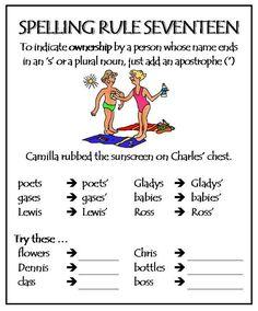 Spelling Rule 17