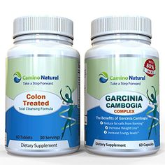 Colon Cleansing Plus Garcinia Cambogia Extract 80% Hca 1400 Mg, Weight Loss Supplement Pack , Includes 60 Capsule Colon Detox Formula and 60 Vegan Capsules, Diet Pills, FDA Registered Made in the USA: Health & Personal Care