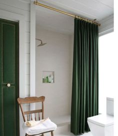 emerald and brass pole